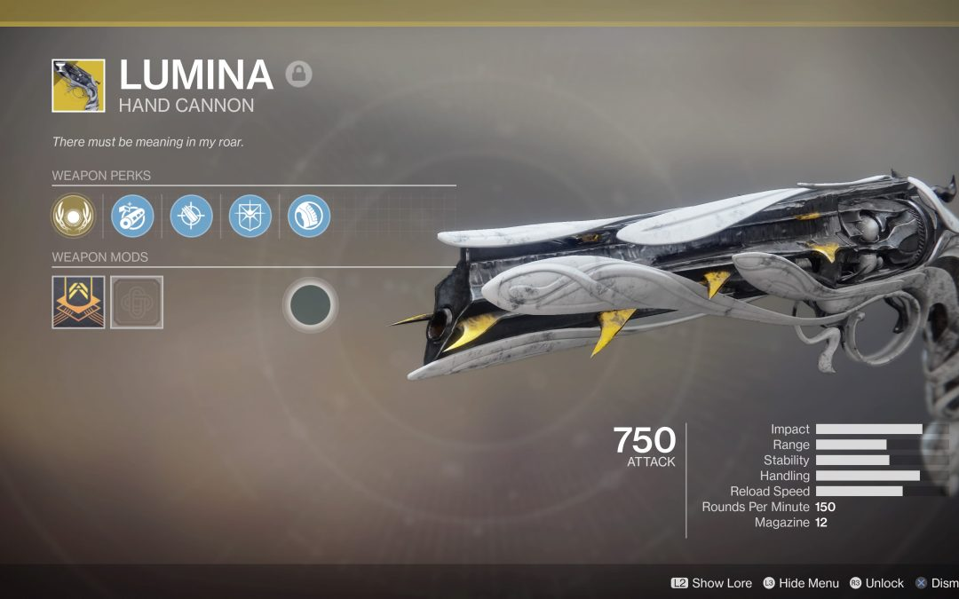 Lumina Hand Cannon: How To Obtain The Weapon In Shortest Time